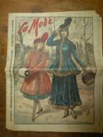 1916  LA MODE  Avec Son Dessin De Broderie Décalquable Au Fer Chaud  (napperon, Taie,etc); Cuisine De Guerre - Patrons