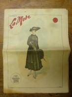 1916  LA MODE  Avec Son Dessin De Broderie Décalquable Au Fer Chaud  (chemise Brodée); Cuisine De Guerre Etc - Patterns