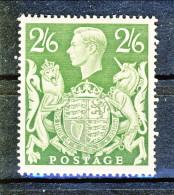 UK Giorgio VI 1942 N. 233 - 2,5 Scellini Verde MH - 1902-1951 (Re)