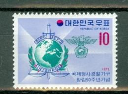 Korea 1973  Yv 757**, Mi 885**  Interpol MNH - Corée Du Sud