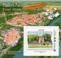 FFAP N°  12 De 2016 - Bloc Dentelé Autoadhésif - La Passion Du Timbre - Toul - FFAP