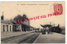 89 - AUXERRE - GARE SAINT GERVAIS - ARRIVEE D' UN TRAIN   1908 - Auxerre