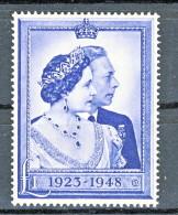 UK Giorgio VI 1948 N. 238 - 1 Sterlina Azzurro Nozze D´argento MNH GO Catalogo € 70 - 1902-1951 (Re)