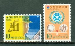 Korea 1974  Yv 783/784**   MNH - Corée Du Sud