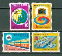 Korea 1974  Yv 787/788/789**, 792**   MNH - Corée Du Sud