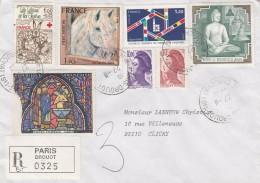 Lettre Recommandée De PARIS Drouot 1980 - Voir Scan - Lettres & Documents
