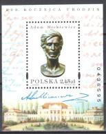 Poland 1998 - Bust Of Mickiewicz - Mi Bl.134 - MNH (**) Postfrisch - Blocs & Hojas