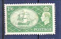 UK Giorgio VI 1951 N. 256 S. 2,6 Verde MNH GO Catalogo € 10 - 1902-1951 (Re)