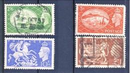 UK Giorgio VI 1951 Serie N. 256-259 Usati Catalogo € 36 - 1902-1951 (Re)