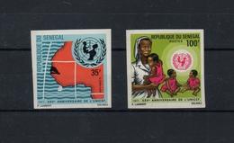 1971 25° UNICEF NON DENTELE  NEUFS** MNH Y&T N° 356-357 - Senegal (1960-...)