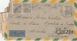 Cover ::: 1947 ::: Brazil »» S. Julião De Freixo (Portugal) ::: Very Stamps ::: Registered - Brésil