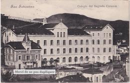 CPA SAN SEBASTIAN (DONOSTIA, Saint Sébastien) Colegio Del Sagrado Corazon. 1912. Rare. - Spanien