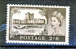GB 1955 Elisabetta II Castelli E Effige. N. 283 - 2,5 Scellini Carrickfergus MNH GO Catalogo € 15 - 1952-.... (Elisabetta II)