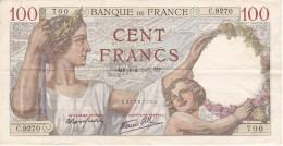 BILLETE DE FRANCIA DE 100 FRANCS DEL 4-4-1940   (BANKNOTE) - 1871-1952 Antiguos Francos Circulantes En El XX Siglo