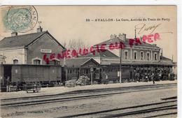 89 - AVALLON - LA GARE   ARRIVEE DU TRAIN DE PARIS - 1905 - Avallon