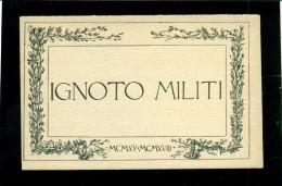 CARTOLINA POSTALE  IN FRANCHIGIA - IGNOTO MILITI - SOLO UNA SEZIONE - NUOVA - Guerra 1914-18