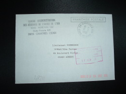 LETTRE OBL.12-6-1991 28-CHARTRES-AIR (28 EURE ET LOIR) BASE AEREIENNE 122 - Militärstempel Ab 1900 (ausser Kriegszeiten)