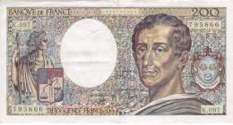 BILLETE DE FRANCIA DE 200 FRANCOS DEL AÑO 1987  (BANKNOTE) - 1962-1997 ''Francs''