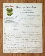 Ancienne Facture Lettre, 1913, Brasserie Chope D´Alsace, Bière Grutli - Alimentaire