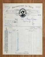 Ancienne Facture Lettre 1925, Brasserie De Nice, Bière RUBENS - Alimentaire