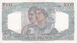 BILLETE DE FRANCIA DE 1000 FRANCS DEL 15-7-1948  (BANKNOTE) MINERVE ET HERCULE - 1871-1952 Antiguos Francos Circulantes En El XX Siglo