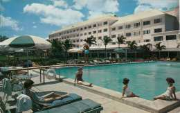 NASSAU (Bahamas), Emeral Beach Hotel, Gel.1959, Sondermarke, Transportspuren - Bahamas