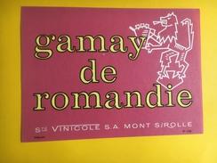 2552 - Suisse Gamay De Romandie - Etiquettes