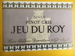 2563 - Suisse Vaud  Pinot Gris  Jeu Du Roy Badoux Aigle - Etiquettes