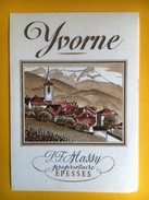 2571 - Suisse Vaud  Yvorne Jean-François Massy Epesses - Etiquetas