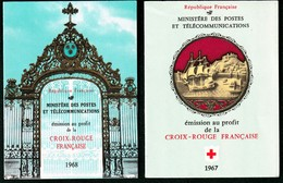 6 CARNETS CROIX ROUGE 1967 à 1972 NEUFS TTB- RARE VARIÉTÉ SUR 1970- 27 Mm AU LIEU DE 32- COTE SEUL 90,00e- 4 SCANS - Carnets