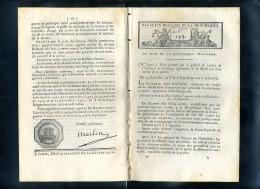 1929-bulletin Des Lois-ref-35456   N° 143 Armée De     Etc..8  Pages An5-1er Germinal - Gesetze & Erlasse