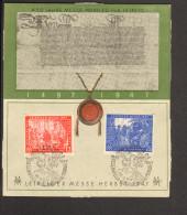 SBZ Leipziger Herbstmesse 12 Und 75 Pfg V.1947 Auf Gedenkblatt Ohne DV - Gemeinschaftsausgaben