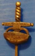CROATIA - ITALIA - CAMPIONATI  ITALIANI Di SCHERMA - SCIABOLA  - ABBAZIA / OPATIJA - 24/25 Maggio  1939  - PIN - RARE - Fencing