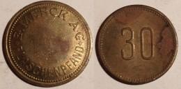 GETTONE TOKEN JETON FICHA GERMANIA MERCK FLASCHENPFAND 30 - Monetari/ Di Necessità