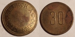 GETTONE TOKEN JETON FICHA GERMANIA MERCK FLASCHENPFAND 30 - Monétaires/De Nécessité