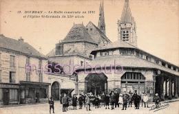91 - DOURDAN - LA HALLE CONSTRUITE En 1223 Et EGLISE ST GERMAIN Du XII Siècle, Groupe D´enfant - Vierge TTBE  - 2 Scans - Dourdan