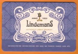 Ac-Sous Verres (bocks) Lindemans - Beer Mats