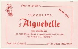 BUVARD NEUF SUPERBE  THEME CHOCOLAT  AIGUEBELLE - Chocolat