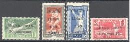 Grand Liban: Maury N° 18/21*; Jeux Olympiques 1924 De Paris; Grosses Charnières - Grand Liban (1924-1945)