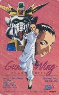 Télécarte Japon - MANGA - GUNDAM / WING - CHANG WUFEI & Space Robot - ANIME Japan Phonecard / 110-011 - Movic 7307 - Cinema
