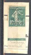 Grand Liban: Yvert N° 24aA; Variété Surcharge Renversée, Bord De Feuille Sur Fragment - Grand Liban (1924-1945)