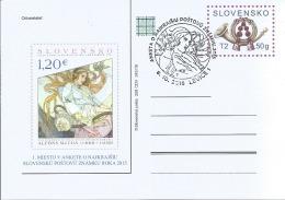 CDV 258 Slovakia Mucha - Best Stamp Of 2015, Issued In 2016 - Moderni