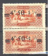 Grand Liban: Maury N° 77/77a**; MNH; Se Tenant; Pli De Gomme - Grand Liban (1924-1945)