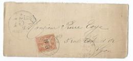 1598 Devant De Lettre Romans Drôme Mouchon Surcharge FM Franchise Militaire 75ème 75 ème Régiment Infanterie Lyon Toye - 1877-1920: Periodo Semi Moderno