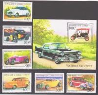 Congo-Brazzaville 1999 Kongo-Brazzaville Mi 1656-1661 + Block 136(1662) Historic Automobiles / Historische Automobile - Voitures