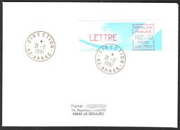 FRANCE '62 ARRAS DIRECTION' 1991 1 OBLITERATION - Marcophilie (Lettres)