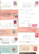 FRANCE '62 ARRAS GARE' 1960/88 44 MARQUES POSTALES Et OBLITERATIONS - Marcophilie (Lettres)