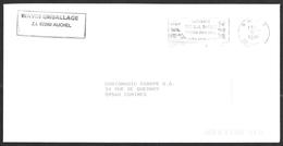FRANCE '62 AUCHEL PP' 1989 1 MARQUE POSTALE - Marcophilie (Lettres)
