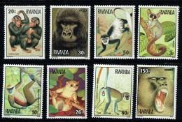 1978   Chimpanzés -  Série Complète ** - Rwanda