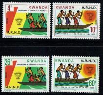 1978   Lutte Contre La Pauvreté  -  Série Complète ** - Rwanda